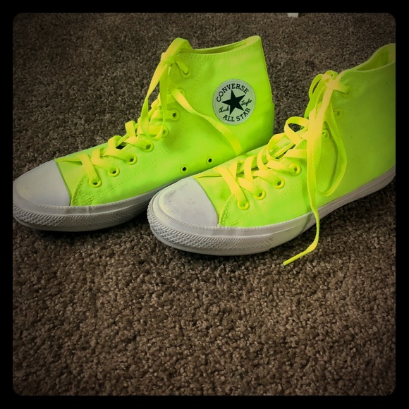 6e4b4a1a8a51e0 Converse Chuck Taylor II Hi-top Neon Yellow W11 M9